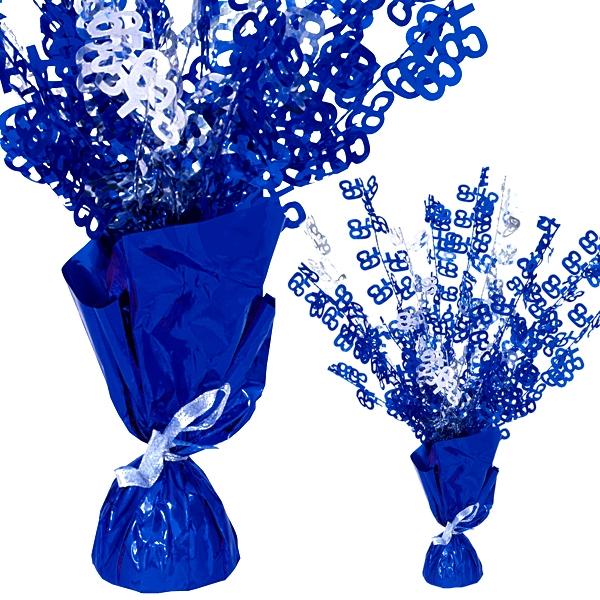 """Ballongewicht  Zahl """"65""""-Tischdeko, metallic blau"""