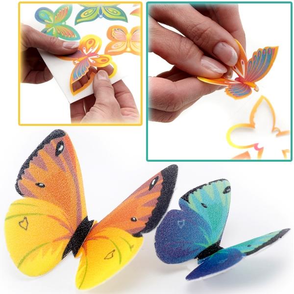 Deko-Schmetterlinge Oblaten 6 Stk., essbare Fooddeko als Butterfly