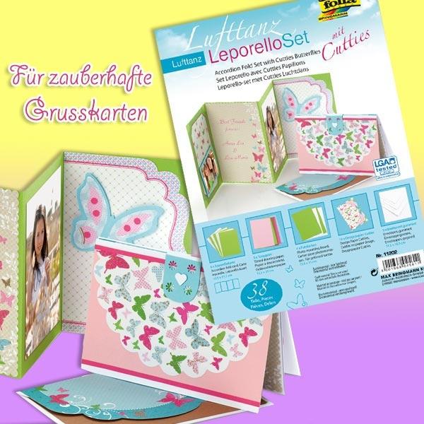 Leporello-Set Schmetterlinge 38tlg. zum Glückwunschkarten-Basteln