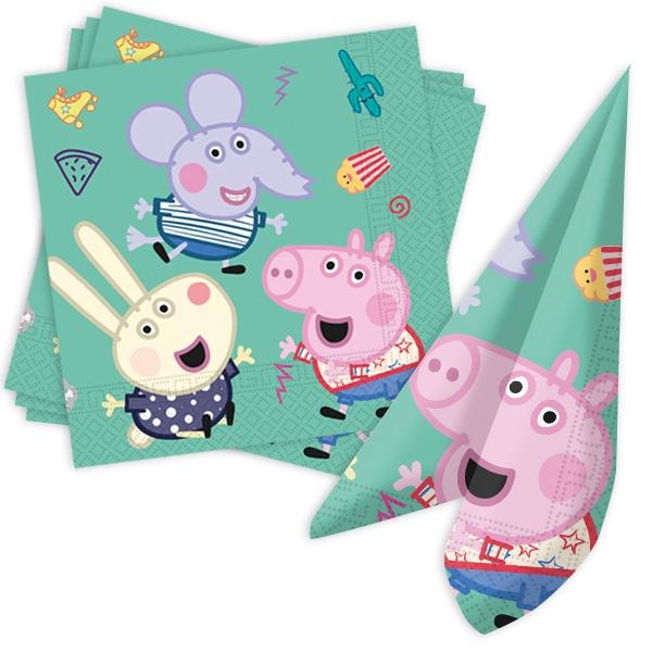 """Basic Set """"Peppa Pig"""", 64 tlg, für 8 Gäste"""