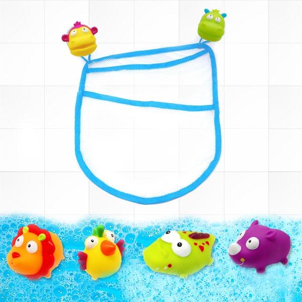 """Badewannenspielzeug """"Dschungelsafari"""" 7-teilig, mit Netz"""