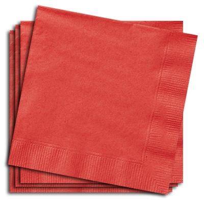 Papierservietten rot, 33cm, 20 St.