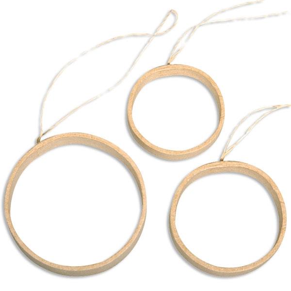 Quilling Ringe, 3er Set, Durchmesser 5 bis 7cm, für Quilling-Arbeiten