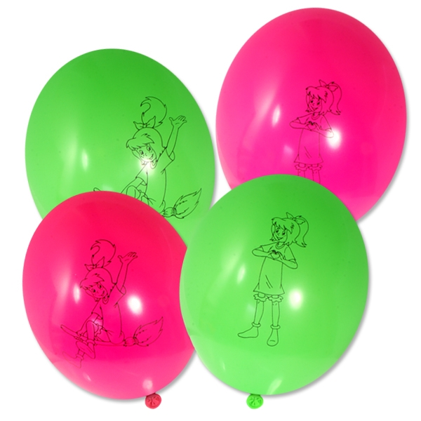 Bibi Blocksberg Luftballons, 8er Pack Latexballons mit der kleinen Hexe