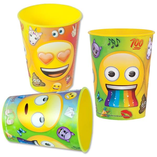 Emoji Rainbow Fun Mehrwegbecher, 1 Stk, 473ml