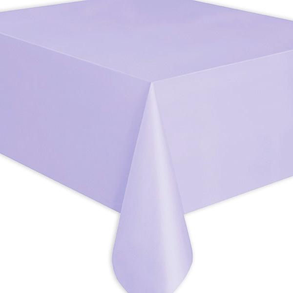 Tischdecke lavendel, einfarbige Folientischdecke in zartem Lila, 1 Stk.