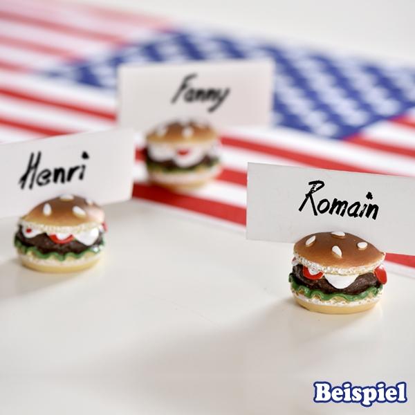 Hamburger-Karten- u. Fotohalter 2er für Namenskärtchen zum Geburtstag