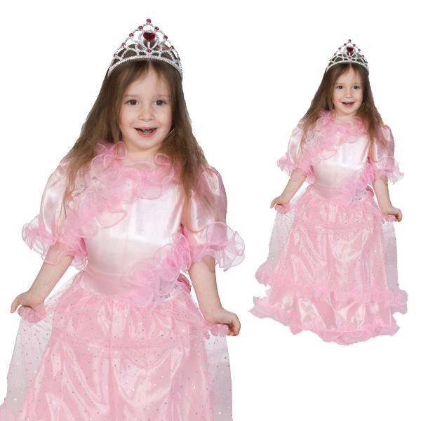 Prinzessin Elissa - zauberhaftes Rüschenkleid, Tüllüberrock und Pailletten, Gr. 140