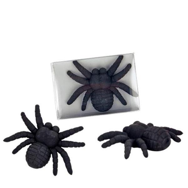 Schwarze Radierer Spinne, Radiergummi, 5cm x 4,3cm, für kleine Erschrecker