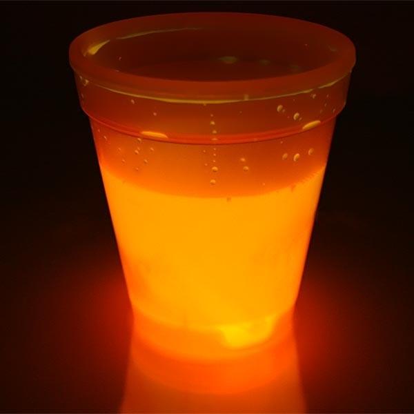 Knicklicht-Becher, orange, für Klichterpartys, 250ml