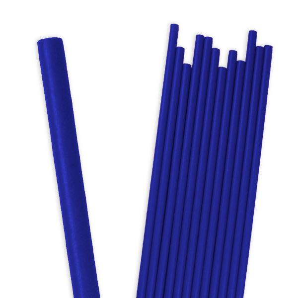 Blaue Papier-Trinkhalme im 12er Pack