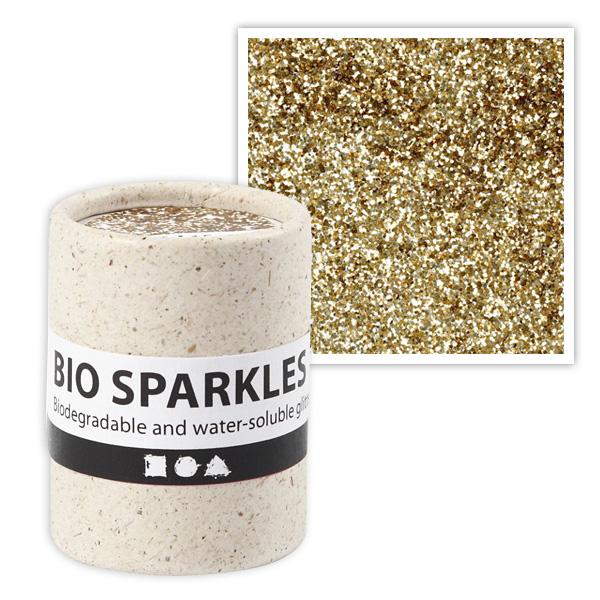 Bio-Glitter in Gold, 10g, 100% plastikfrei