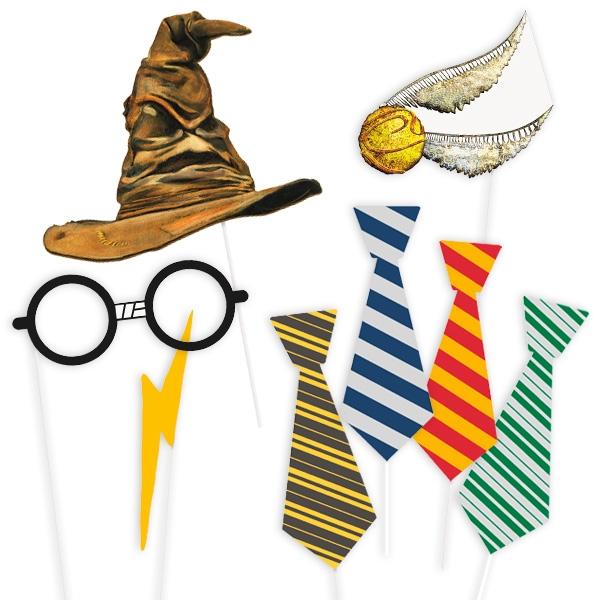 """""""Harry Potter""""-Fotorequisiten-Set, Selfie, 8-teilig"""