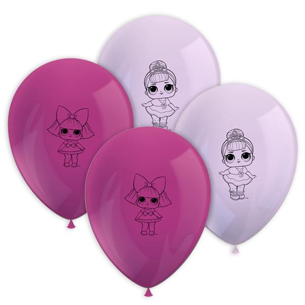 LOL Surprise Luftballons im 8er Pack, Ø30cm