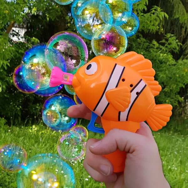 """Seifenblasenpistole """"Fisch"""", 1 Stk, 14cm, mit Flüssigkeit"""