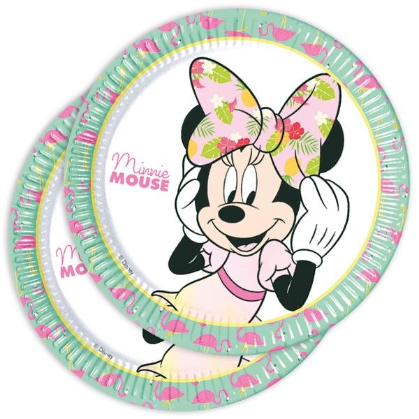 Minnie Maus Tropical Kinderteller, 8er Pck, 22,5cm