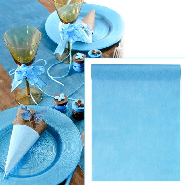 Tischläufer, 10m, Hellblau, 30cm breit, Vlies