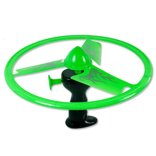 Frisbee mit Abschußvorrichtung, 25,5cm, mit LED