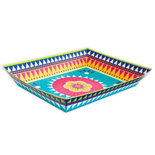 """""""Fiesta"""" Servierteller, Pappe, 37cm x 28cm, in mexikanischem Design"""