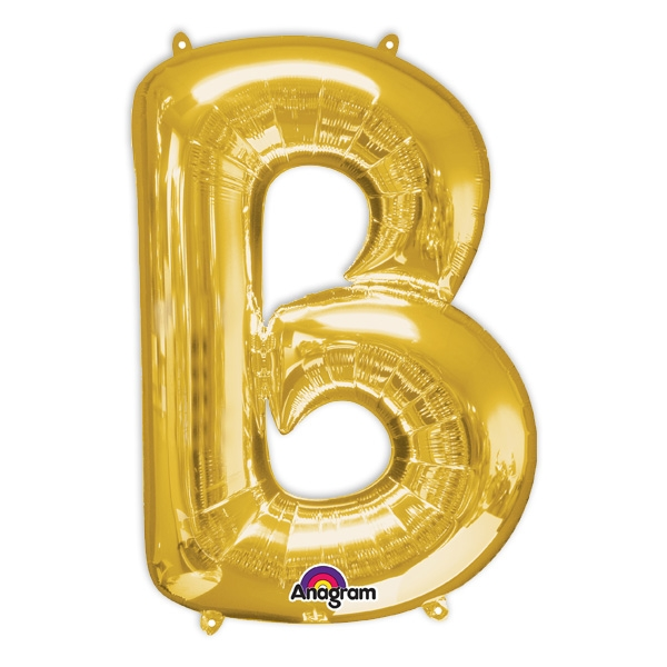 "Folienballon Buchstabe ""B"" - Gold, 58 cm x 86 cm"
