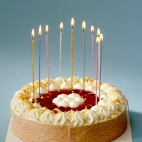 Spaghettikerzen 18 Stück, 16,5 cm , 3 mm dünne Geburtstagskerzen