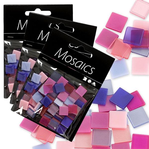 Großpack Mosaiks, 75g, Lila-Pink, ca. 300 Mosaiksteinchen aus Resin