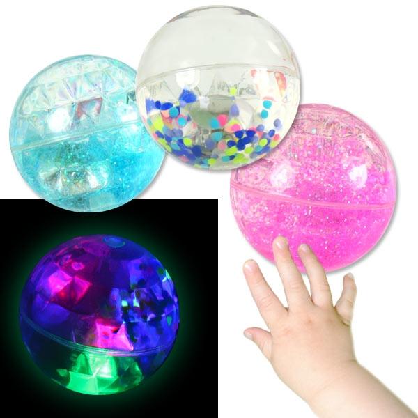 Wasser-Springball, mit LED, Flummi, 6,5cm, 1 Stk