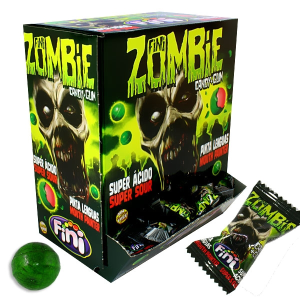 Großpackung Grüne Zombie Bonbons, saure grüne Zungenmaler, 200 Stk