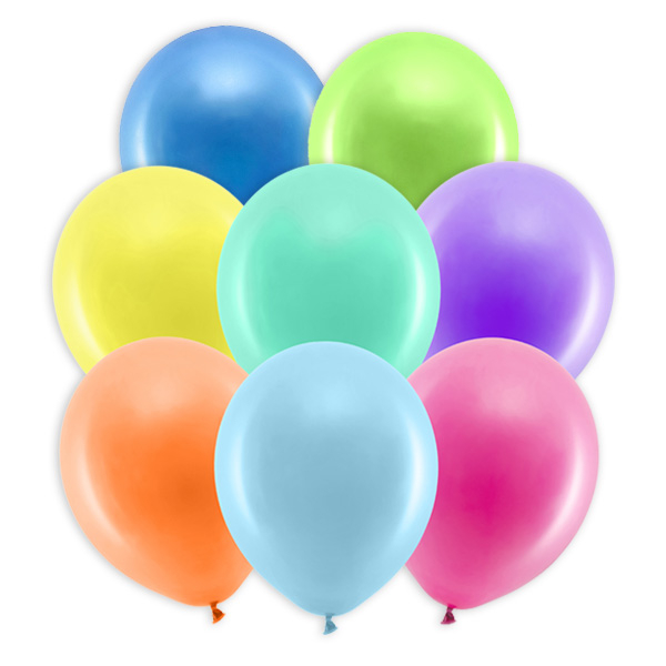10 pastellfarbene Party-Ballons, 30cm