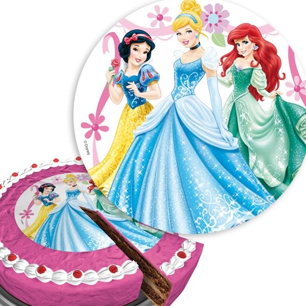 Disney Princess Motivtorten-Aufleger rund, aus Zuckerguss, ca. 16cm