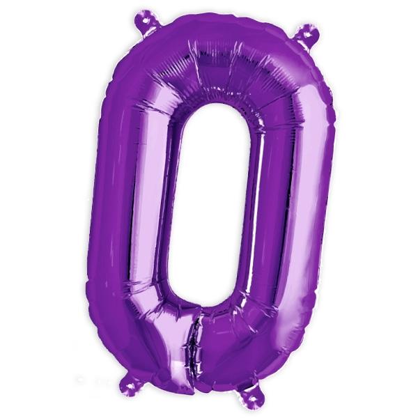 Folienballon Zahl 0 als Ballondeko für runden Geburtstag, 41cm, 1 Stück