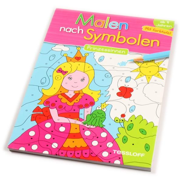 """Malen nach Symbolen """"Prinzessinnen"""", 1 Ausmalblock"""