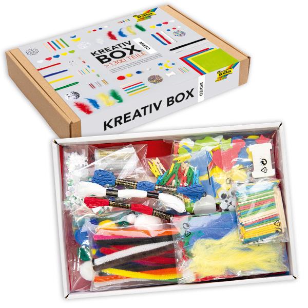 Große Kreativ Box mit verschiedenen Bastelmaterialien, ca. 1300 Teile