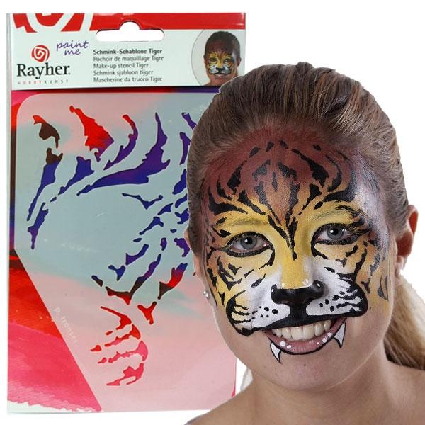 Paint Me - Schablone Tiger, Profischminken leicht gemacht, immer wiederverwendbar