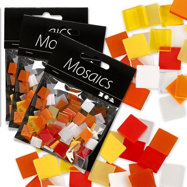 Großpack Mosaiksteine, 75g, Rot-Orange