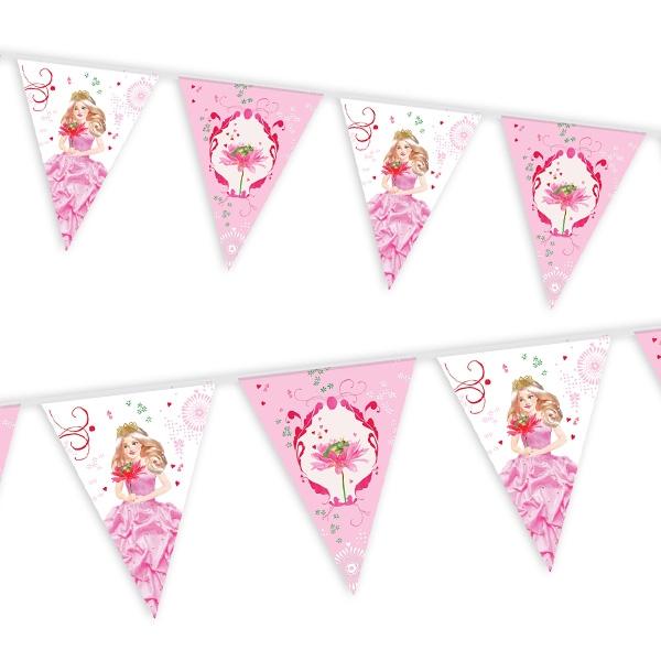 Prinzessin Wimpelkette für den Prinzessin Geburtstag, 1 Stück, Folie