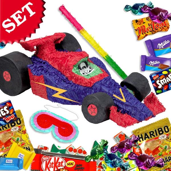 Pinatasets Rennwagen +Süßigkeiten