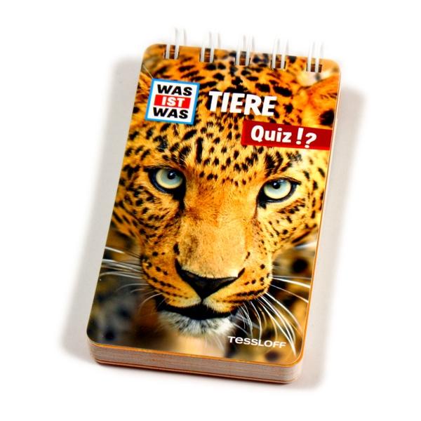 WAS IST WAS Quizblock-Tiere, über 100 Quizfragen für Tierfreunde