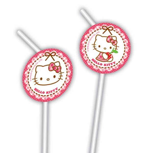 Hello Kitty Hearts – Motiv-Strohhalme im 6er Pack, mit versch. Motiven
