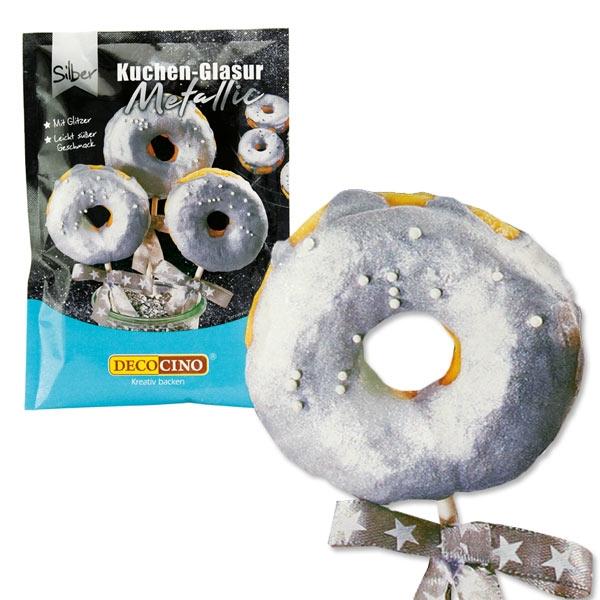Metallic Glasur Silber, 65g OHNE Erhitzen oder Aufkochen!