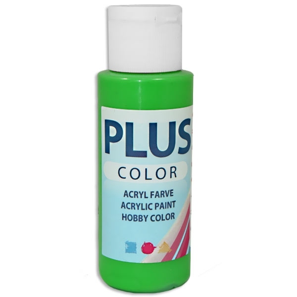 Bastelfarbe Plus Color Gras-Grün, 60 ml, äußerst gute Deckkraft