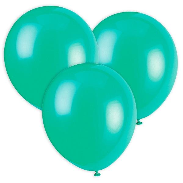 Grüne Luftballons aus Latex, 30cm, 10 Stück, geeignet für Heliumfüllung