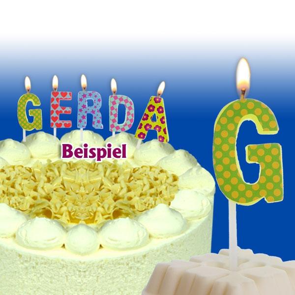 Mini Kerze Buchstabe G, Tortenkerze zum Personalisieren, 2,5cm, 1 Stück