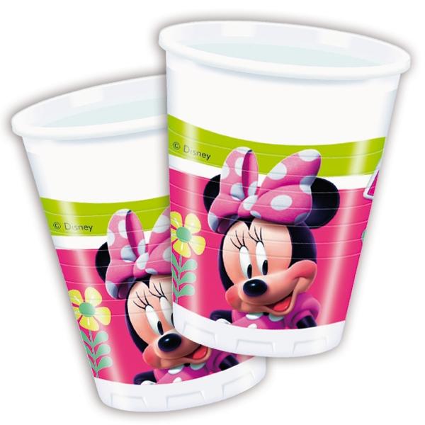 Minnie Plastikbecher, 8 Stk., 200ml, Trinkbecher mit Minnie Mouse