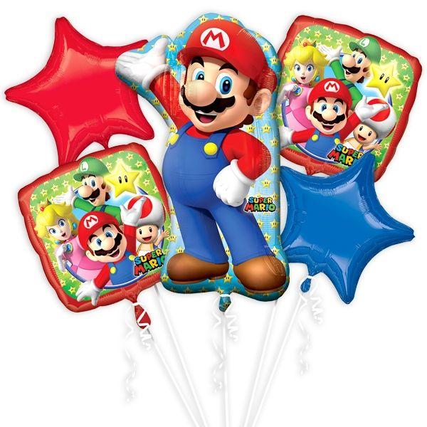 """""""Super Mario"""" Ballon-Set, 5-teilig"""