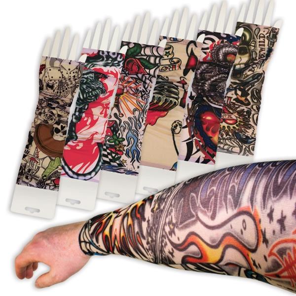 Tattooärmel, 2er Pack, ca. 29cm, eine echte Alternative, 100% Polyester