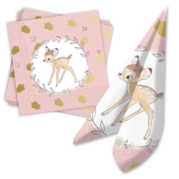 """""""Bambi"""" Partyservietten mit dem kleinen Reh, 20 Stück, 33 cm"""