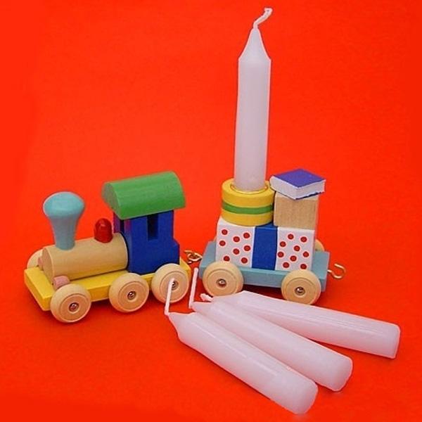 10 Stück Geburtstagskerzen Durchmesser 13 mm für Geburtstagszüge
