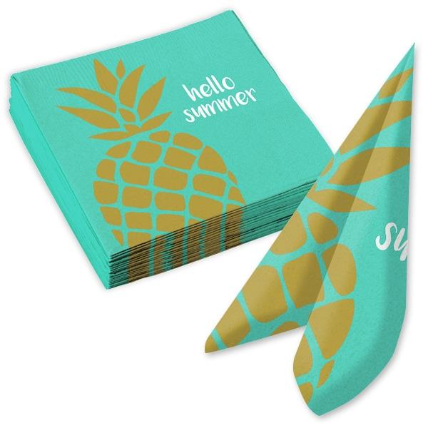 """Ananas Sommerparty 20x Papierservietten """"hello summer"""", 33cm"""