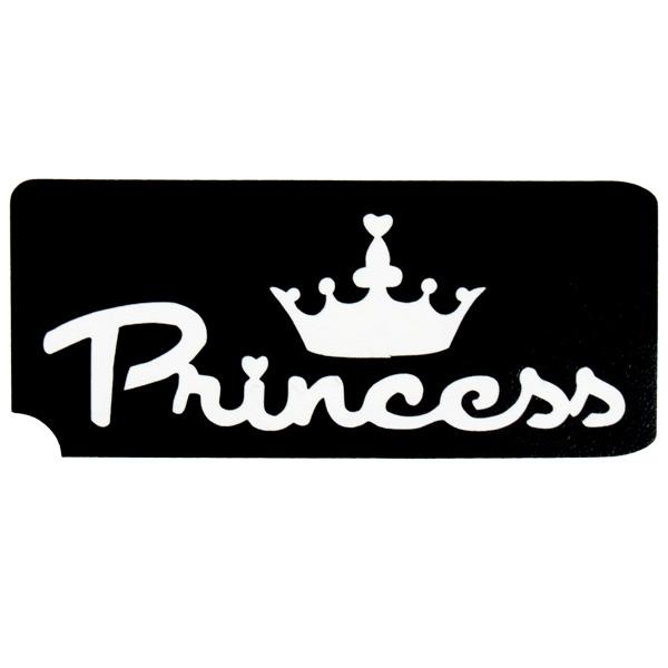 Princess Tattooschablone, der Hautschmuck für Prinzessinnen 6,5x3,5cm